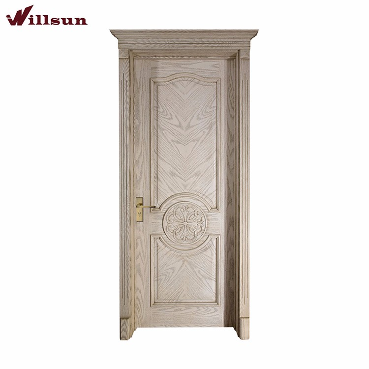 Manual Split Joint Wood Veneer Doors Entry Wood Door