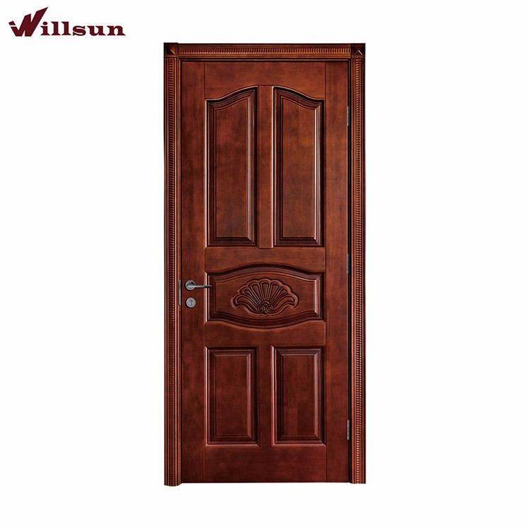 Interior Bedroom Carved Wooden Inner Doors Wood Flush Carving Door Original Solid Wood Door