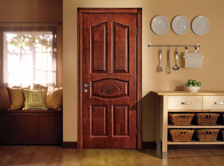 Interior Bedroom Carved Wooden Inner Doors Wood Flush