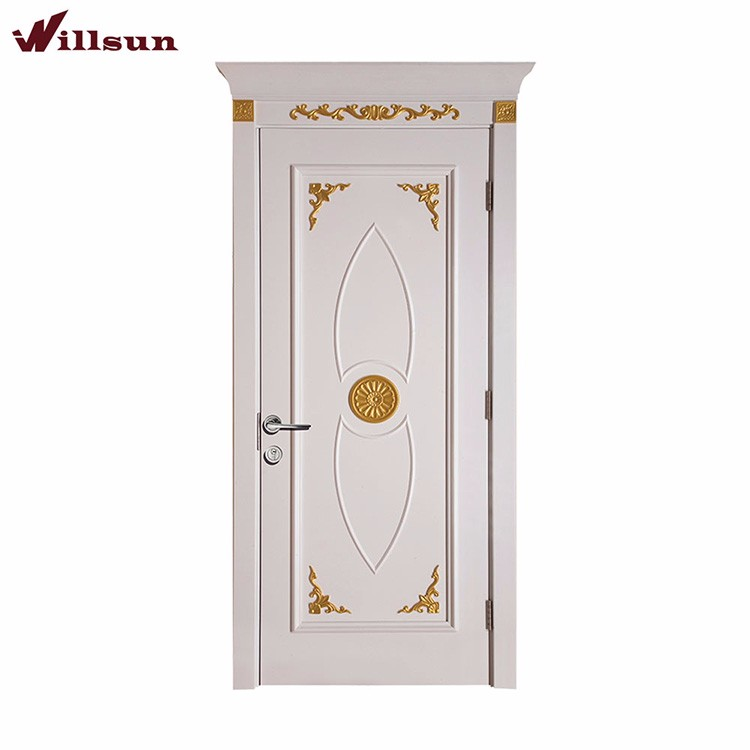 latest design wooden single main door design golden lacquer carving decorative for 5 star hotel